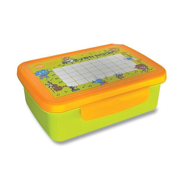 Svačinový box Zdravá sváča zelený/ žlutý