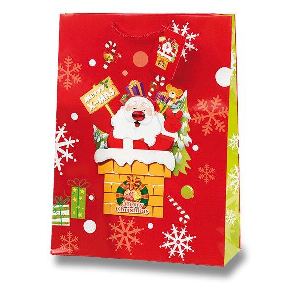 Dárková taška Santa Claus 300 x 120 x 410 mm