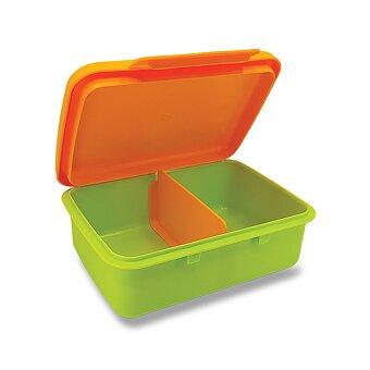 Obrázek produktu Svačinový box Zdravá sváča - zelený/ žlutý