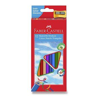 Obrázek produktu Pastelky Faber-Castell trojhranné - 12 barev + ořezávátko