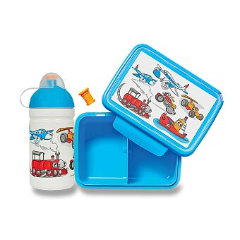 Zdravá lahev + svačinový box