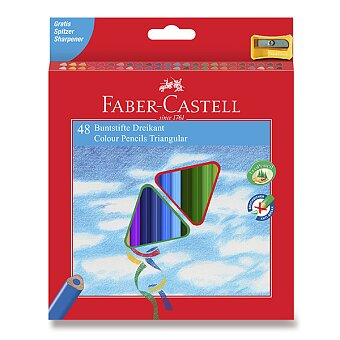 Obrázek produktu Pastelky Faber-Castell trojhranné - 48 barev + ořezávátko