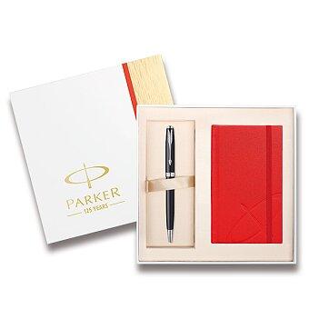 Obrázek produktu Parker Sonnet Matte Black CT - kuličková tužka, dárková sada se zápisníkem