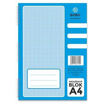 Obrázek produktu Kroužkový blok Bobo s boční spirálou - A4, čistý, 50 listů