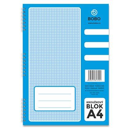 Obrázek produktu Bobo blok - kroužkový blok - A4, 50 l., čistý
