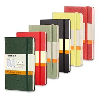 Obrázek produktu Zápisník v tvrdých deskách MOLESKINE - 6,5 x 10,5 cm, linkovaný, výběr barev