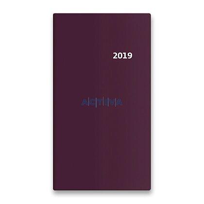 Obrázek produktu Helma Torino 2019 - kapesní diář 14idenní - bordeaux