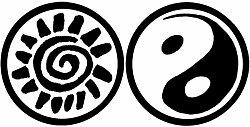 Oboustranné pečetidlo Aladine - Slunce / yin yang
