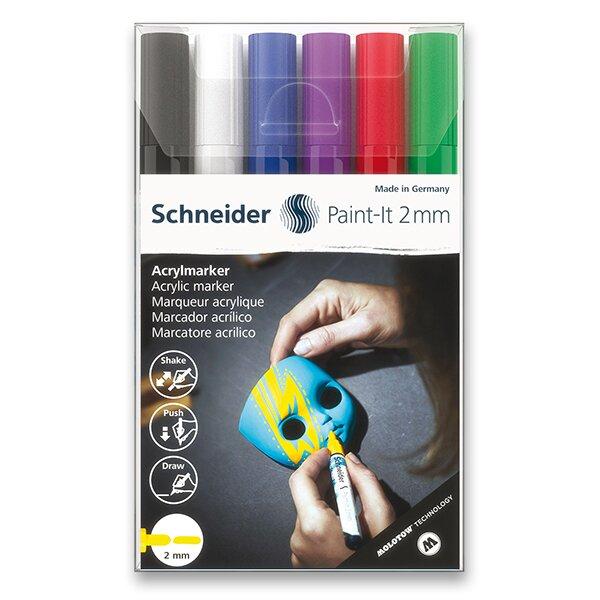 Akrylový popisovač Schneider Paint-It 310 souprava V1, 6 barev