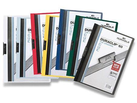 Obrázek produktu Plastový rychlovazač s klipem Durable Duraclip - A4, na 60 listů, výběr barev