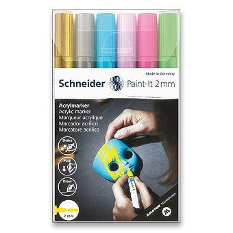 Obrázek produktu Akrylový popisovač Schneider Paint-It 310 - souprava V2, 6 barev