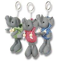 Reflexní přívěšek na klíče, slon, výběr barev
