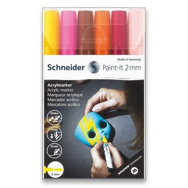 Akrylový popisovač Schneider Paint-It 310 souprava V3, 6 barev