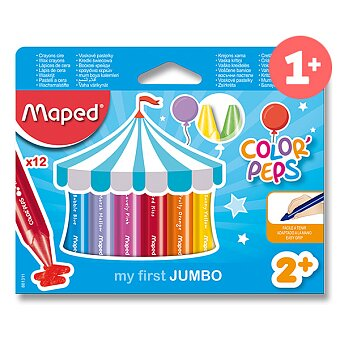 Obrázek produktu Voskovky Maped Color'Peps Wax Jumbo - 12 barev
