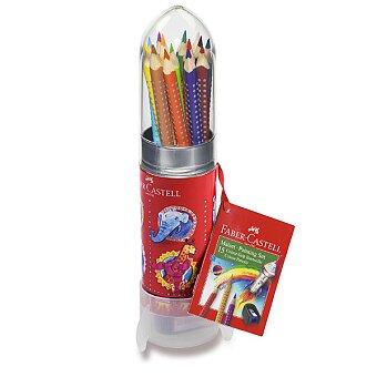Obrázek produktu Pastelky Faber-Castell Grip 2001 112457 - dárková sada raketa, 15 barev