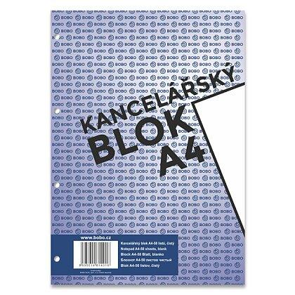 Obrázek produktu Bobo blok - lepený blok, děrovaný - A4, 50 l., čistý