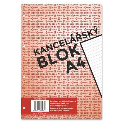 Obrázek produktu Bobo blok - lepený blok, děrovaný - A4, 50 l., linkovaný