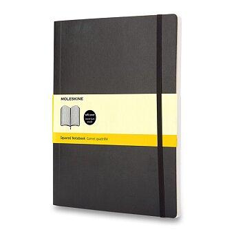 Obrázek produktu Zápisník Moleskine - měkké desky - XL, čtverečkovaný, černý