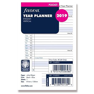 Roční plánovací kalendář 2019, Aj