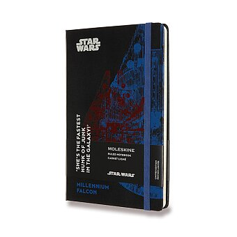 Obrázek produktu Zápisník Moleskine Star Wars - tvrdé desky - L, linkovaný, Falcon