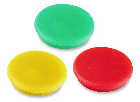 Obrázek produktu Magnety v plastovém úchytu - průměr 24 mm, 10 ks, výběr barev