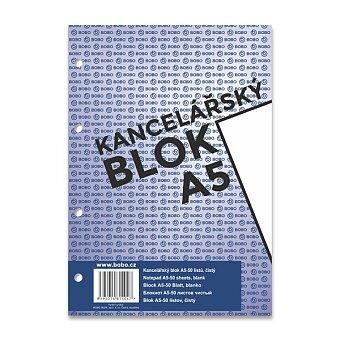 Obrázek produktu Lepený děrovaný blok Bobo - A5, čistý, 50 listů