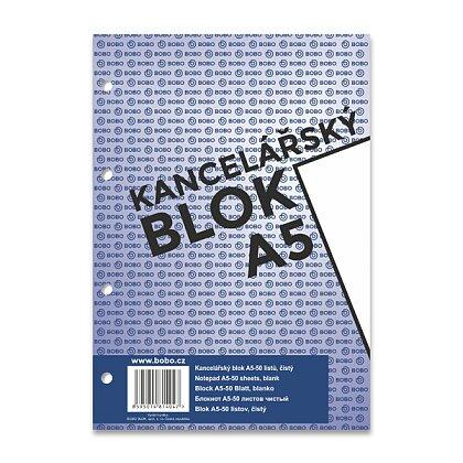 Obrázek produktu Bobo blok - lepený blok, děrovaný - A5, 50 l., čistý