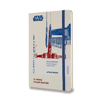 Obrázek produktu Zápisník Moleskine Star Wars - tvrdé desky - L, linkovaný, X-Wing