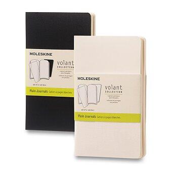Obrázek produktu Zápisník Moleskine Volant - S, čistý, 2 ks, výběr barev