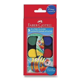 Obrázek produktu Vodové barvy Faber-Castell - 8 barev, průměr 24 mm