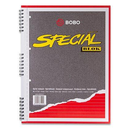 Obrázek produktu Bobo blok Speciál - kroužkový blok - A4, 50 l., linkovaný
