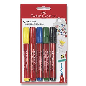 Obrázek produktu Popisovač Faber-Castell na textil - 5 barev