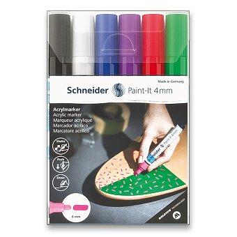 Obrázek produktu Akrylový popisovač Schneider Paint-It 320 - souprava V1, 6 barev