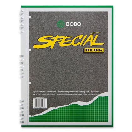 Obrázek produktu Bobo blok Speciál - kroužkový blok - A4, 50 l., čtverečkovaný