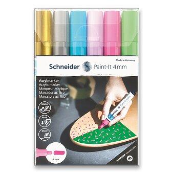 Obrázek produktu Akrylový popisovač Schneider Paint-It 320 - souprava V2, 6 barev
