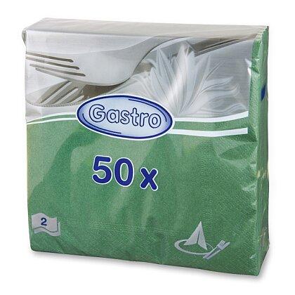 Obrázek produktu Papírové ubrousky - 2vrstvé, 33 × 33 cm, 50 ks, zelené