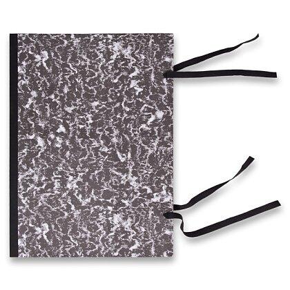 Obrázek produktu Hit Office - desky s tkanicí - A3, mramor, černé