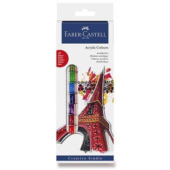 Obrázek produktu Akrylové barvy Faber-Castell - 12 barev