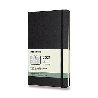Obrázek produktu Diář Moleskine 2021 - tvrdé desky - L, týdenní, vertikální, černý