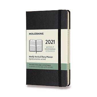 Obrázek produktu Diář Moleskine 2021 - tvrdé desky - S, týdenní, vertikální, černý