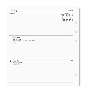 Obrázek produktu Týdenní kalendář 2021, Aj - náplň A5 diářů Filofax