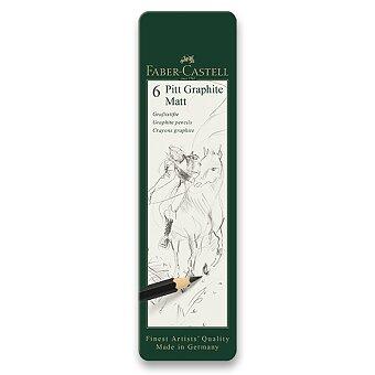 Obrázek produktu Grafitová tužka Faber-Castell Pitt Graphite Matt - sada 6 ks