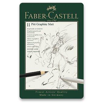 Obrázek produktu Grafitová tužka Faber-Castell Pitt Graphite Matt - sada 11 ks
