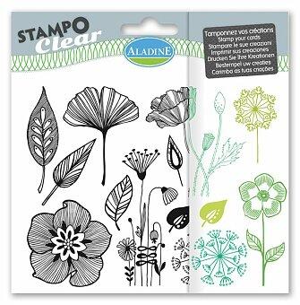 Obrázek produktu Razítka gelová Stampo Clear - Kytičky