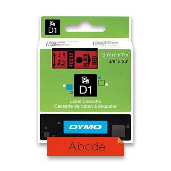 Obrázek produktu Polyesterová páska Dymo - 9 mm x 7 m, černý tisk / červená páska