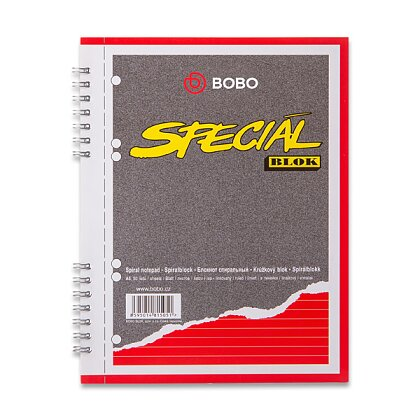 Obrázek produktu Bobo blok Speciál - kroužkový blok - A5, 50 l., linkovaný
