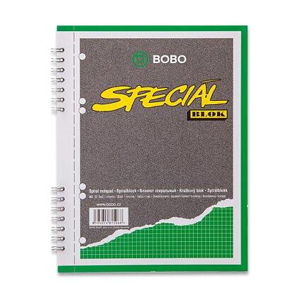 Obrázek produktu Bobo blok Speciál - kroužkový blok - A5, 50 l., čtverečkovaný