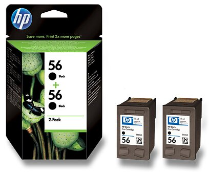 Obrázek produktu 2x cartridge HP C6656A č. 56 pro inkoustové tiskárny - black (černý)