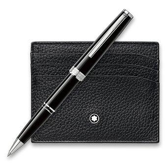 Obrázek produktu Montblanc Pix Black - roller, dárková sada s pouzdrem na kreditní karty