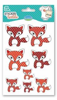 Obrázek produktu Nažehlovací nálepky na textil - Lišky
